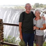 Mike and Jen on the Zambian side of the Victoria Falls