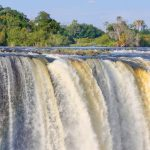 A section of the Victoria Falls as seen from the Zimbabwean side