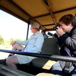 The Arbuckle family during a Chobe game drive - Private vehicle for all Compass Odyssey travellers