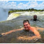 Ryan in Devil's Pool during the Livingstone Island tour of the Victoria Falls