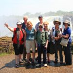 Happy travellers on the Zimbabwean side of the Victoria Falls