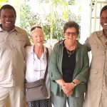 Cheryl and Virginia with Mortimer and Ruth, our local guides in and around Victoria Falls