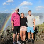 The Junclaus Family at the Victoria Falls